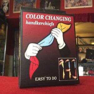 Pañuelos que cambian de color